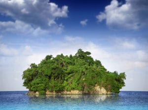 A very small island surrounded by sea