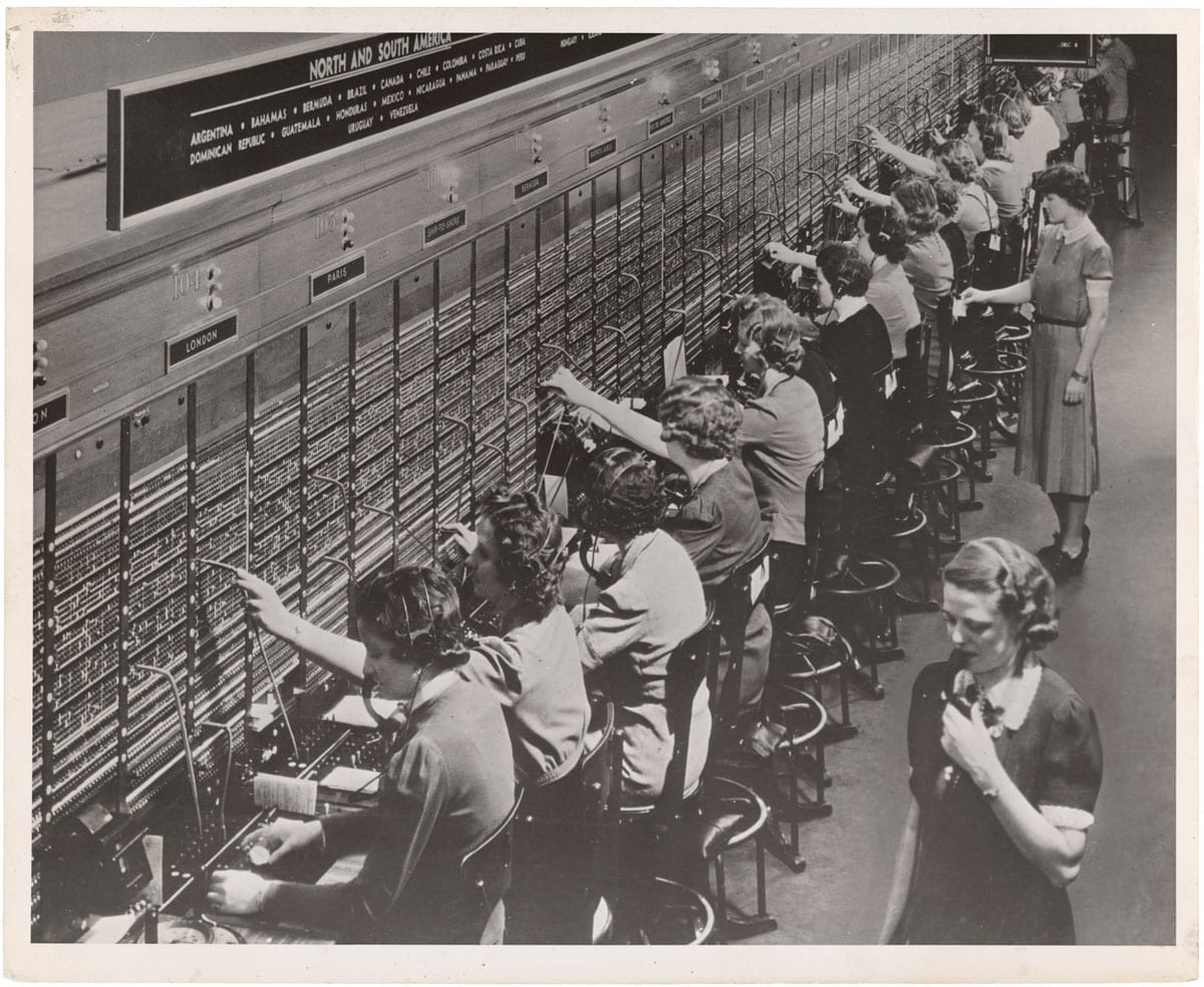 telephone switchboard workers