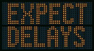 expect delays (expressway sign)