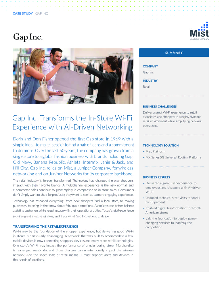 Mist WiFi: The Gap case study