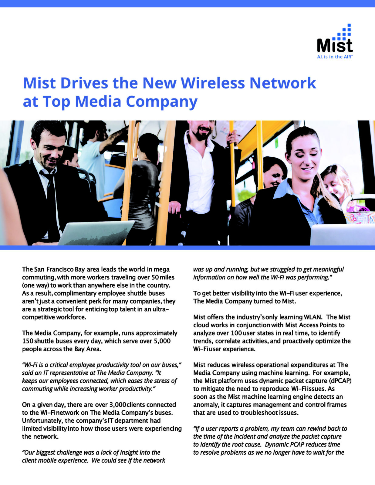 Mist WiFi case study: The Media Company