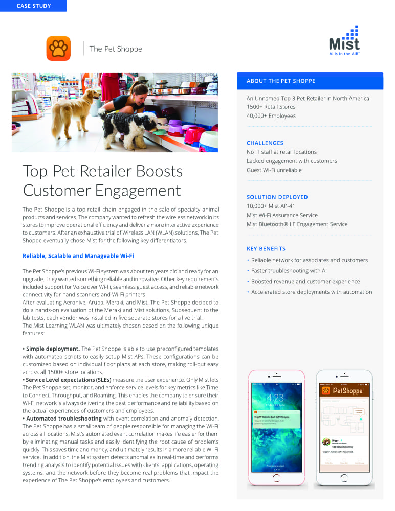 Mist WiFi case study: The Pet Shoppe